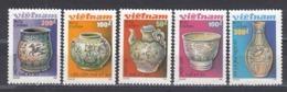 Vietnam 1989 - Poteries Decorees, Mi-Nr. 2053/57, Dent., MNH** - Vietnam