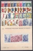 SMOM 1966/68 Annate Complete/Complete Years MNH/** VF - Malte (Ordre De)