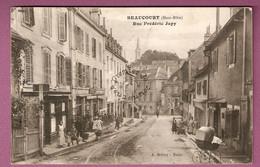 Cpa Beaucourt Rue Frederic Japy  Animée - édition A Schley - Beaucourt