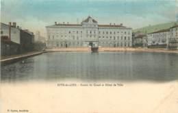 42 -  RIVE DE GIER -  BASSIN DU CANAL ET HOTEL DE VILLE - Rive De Gier