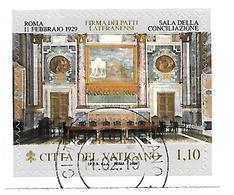 VA044 - VATICANO 2019 - 90° ANNIVERSARIO PATTI LATERANENSI - USATO TIMBRO SPECIALE PRIMO GIORNO EMISSIONE - Vaticano