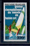 POLINESIA FRANCESE 1974 - NAVI - CATAMARANO - 2° CAMPIONATO MONDIALE HOBIE CAT - MNH** - French Polynesia