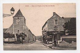 - CPA VERT (78) - Place De L'Eglise Et La Rue Du Moulin (CAFÉ-RESTAURANT H. LEROUX) - Edition Bertran - - France
