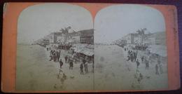 VUE STÉRÉOSCOPIQUE    -  Trouville,la Promenade De La Plage. - Stereoscopic