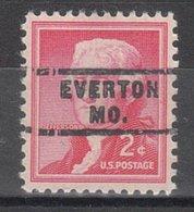 USA Precancel Vorausentwertung Preo, Locals Missouri, Everton 743 - Vereinigte Staaten