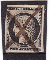# Z.10909 France Republic 1849 - 50 First Ever Postage Value 20 C. Used, Yvert 3, Michel 3: Ceres - 1849-1850 Cérès