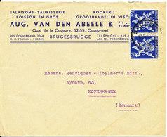 Belgium Cover Sent To Denmark Brugge 17-4-1946 - Belgium