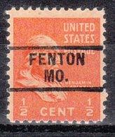 USA Precancel Vorausentwertung Preo, Locals Missouri, Fayette 729 - Vereinigte Staaten