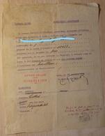 Refugier Belge De Ans, Liège - Belgischer Fluchtling - Ausweis - Autorisation De Rentrer à Ses Risques Et Perils - 1939-45