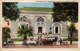 GALVESTON TX : ROSENBERG LIBRARY ( JUDAÏCA ? ) / ROSENBERG DAY - ANNÉE / YEAR ~ 1910 - '920 (ad507) - Galveston