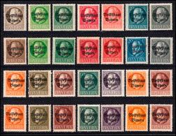 Aus 116-135 A Ludwig Aufdruck Volksstaat Gezähnt, Farbvarianten Pfennig-Werte ** - Bayern