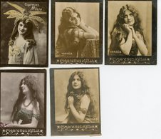 1598. LOT DE 5 IMAGES CIGARETTES MELIA ALGER. ARTISTES COLSY ET VERDES - Vecchi Documenti