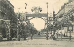 71 - CHALON SUR SAONE - FETES DU 8 SEPTEMBRE - BOULEVARD DE LA REPUBLIQUE - Chalon Sur Saone