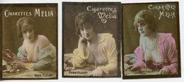 1599. LOT DE 6 IMAGES CIGARETTES MELIA ALGER. ARTISTES NICHETTE ET ROSE FLEURY SEINS NUS - Vecchi Documenti