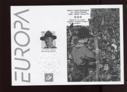 Belgie 2007 3633 3634 BL142 EUROPA CEPT Baden Powell Scouts Zwart-wit Velletje Feuille Blanc Noir  RR - Foglietti Bianchi & Neri