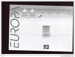 Belgie 2003 3179  EUROPA CEPT Kust Coast Affiche  Velletje Feuille Blanc Noir  RR - Black-and-white Panes