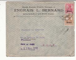 Guerre 1914/18    Enveloppe    De 1918   Censure       Engrais L Bernard - Oorlog 14-18
