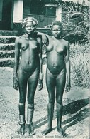 Congo Français, Deux Jeunes Filles Sangho, Seins Nus,  Photo, No Postcard, 2 Scans - Congo Français - Autres