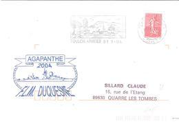 Var :- TOULON ARMEES + Cachet F.L.M. DUQUESNE - Marcophilie (Lettres)