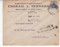 Guerre 1914/18    Enveloppe    De 1917   Censure       Engrais L Bernard - [OC1/25] General Gov.