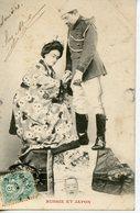 1601. SERIE DE 5 CPA COUPLE RUSSIE ET JAPON 1904 - Donne