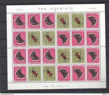 19974 - Feuillet Pro-Juventute 1953 Neuf Papillons Butterflies - Kehrdrucke