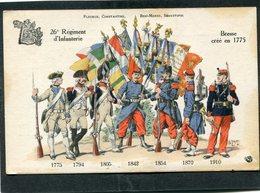 CPA - 26è Régiment D'Infanterie Crée En 1775 - Régiments