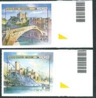 Italia, Italy, Italie 2017; EUROPA: Castello Doria Di Dolceacqua + Castello Scaligero Di Malcesine,serie Completa Bordo. - 2017
