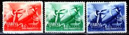 BELGIE  SABENA PROMOTION STAMPS  RED GREEN & BLUE - Airmail