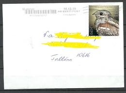 ESTLAND Estonia 2019 Domestic Letter Bird Vogel Des Jahres As Single - Estonia