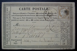 Amiens,1876 Carte Précurseur - Postmark Collection (Covers)