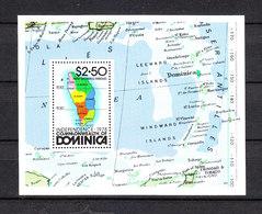 Dominica   -  1978.  Mappa Dell' Isola E Dell' Arcipelago. Map Of The Island And The Archipelago. MNH - Geografia
