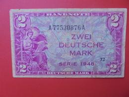OCCUPATION ALLIEE 2 MARK 1948 CIRCULER (B.9) - [ 7] 1949-… : RFA - Rép. Féd. D'Allemagne