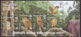 Seychelles, Fauna, Birds, Owls MNH / 2001 - Hiboux & Chouettes