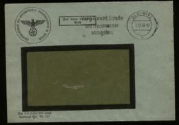 3. Reich - DR Schlesien Dienstpost Briefumschlag: Gebraucht Gleiwitz 1938 , Bedarfserhaltung. - Covers & Documents