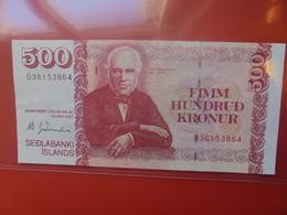 ISLANDE 500 KRONUR 2001 PEU CIRCULER (B.10) - IJsland