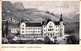 BOZEN / BOLZANO : SANATORIUM HOCH-EPPAN Bei BOZEN - KURANSTALT Mit PENSION - ANNÉE / YEAR ~ 1905 - '910 (ad512) - Bolzano (Bozen)