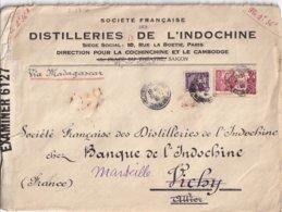 INDOCHINE - Ensemble De 20 Lettres De 1940 à Destination De Marseille Dont 12 Censurées - 20 Scans - Indochine (1889-1945)
