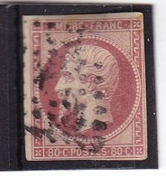 # Z.10914 France Republic 1853 - 61, Value 80 C. Used, Yvert 17, Michel 16: Emperor Napoleon III. - 1853-1860 Napoléon III