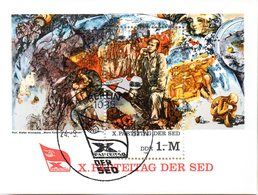 "(DDR-Bl) DDR Mi. Block 63 ""X. Parteitag Der SED, Berlin""  ESSt  24.3.1981 BERLIN - [6] Democratic Republic"