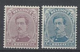 Nr 140-41 ** - 1915-1920 Albert I