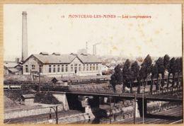 X71215 MONTCEAU-LES-MINES (71) Les Compresseurs Station Electrique Passerelle Ferroviaires Canal 1910s N°16 - Montceau Les Mines