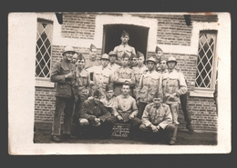 Originele Fotokaart / Carte Photo Originale - Soldaten / Militaires - 19e Linieregiment Kamp Beverloo - Les Bleus 1921 - Caserme