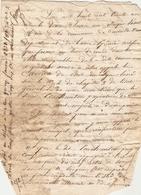 Vieux Papier De Castéide-Doat, 1831, Le Maire Labat Dresse Contravention à Pouchautou Pour Avoir Empiété Sur Un Chemin - Historische Documenten