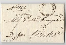 GOVERNO PROVVISORIO DI MURAT - DA CIVITANOVA A PETRITOLI - 9.4.1815. - ...-1850 Préphilatélie