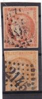 # Z.10916 France Republic 1870 - 71, 2 X Value 40 C. Used, Yvert 48, Michel 43: Ceres - 1870 Emissione Di Bordeaux