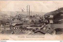 RIVE DE GIER QUARTIER DE COUZON ET USINE DES ETAINGS 1903 PRECURSEUR TBE - Rive De Gier