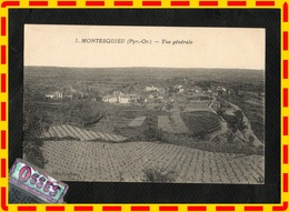 MONTESQUIEU.(Py.- Or.) Vue Générale (recto Verso) - France