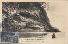 Cachet Marine Française Service à La Mer + Croiseur Cuirassé Dupetit Thouars CP Guadeloupe Vieux Fort Pointe Turlet - Postmark Collection (Covers)