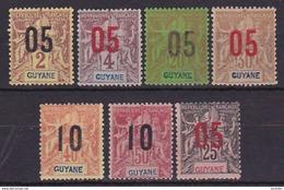 Guyane Série N° 66  à 72 Neuf * - Voir Verso & Descriptif - - Neufs